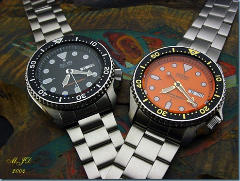 SKX007K (left) and SKX011J (right)