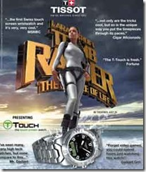 Tissot T-Touch ad featuring Angelina Jolie