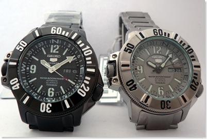 Seiko SKZ217K (left) and SKZ215K (right)