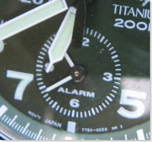 SNA141P's alarm subdial